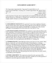 Nda Non Compete Template 16 Non Disclosure Non Compete Agreement Templates Free