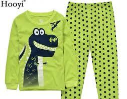 dino boys sleepwear suits 100 cotton long children clothes sets motor t shirts pants 2 pieces kid pyjamas 2 3 4 5 6 7 year