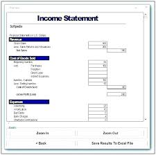 monthly profit and loss statement template free download free pl statement template