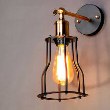 industrial lighting fixtures. Free Shipping Vintage Industrial Lighting Wall Lights E27 Country Small Black Metal Lamps Edison Fixtures