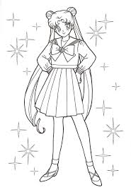 Small Picture Sailor Moon Colouring Pages Online Four Sailors Coloring Pages