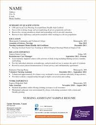 Cna Resume For Hospital From Home Health Aide Care Plan Template
