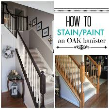 I finally tackled those outdated ugly orange oak stair banisters! What a  difference it makes, right?