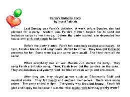 star compositions a birthday party check out the adjectives  farah s birthday party by nurul fatihah last sunday was farah s birthday