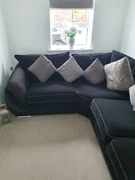 corner sofa with cushions mansfield woodhouse nottinghamshire