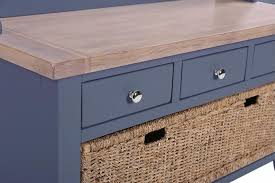 Oak Coat Rack With Baskets Buy Chalked Oak and Downpipe Hall Tidy Bench with Coat Rack Mirror 66