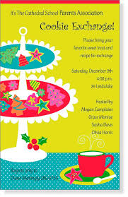 cookie exchange invitation templates com cookie swap party invitations templates