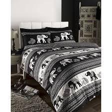 de cama empire indian elephant animal duvet quilt cover bedding set black double co uk kitchen home