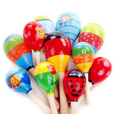 <b>1pc Baby</b> Kid Wooden Ball Toy Sand Hammer Rattle Musical ...
