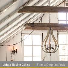 light a sloping ceiling lighting from
