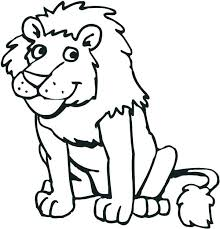 Zoo Animal Coloring Page Coloring Pages Zoo Animals Simple Zoo