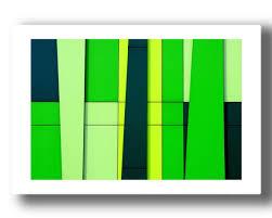 abstract print vibrant wall art green