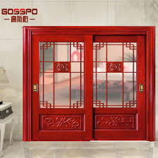 kitchen wood front entry door with glass gsp8 020 pictures photos