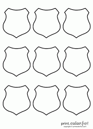 Small Picture Shield Set 9 Badge Coloring law enforcement sheriff police