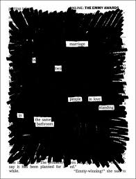 best fahrenheit ideas outlaws of love ray blackout poetry activity tying into the theme of censorship in fahrenheit 451