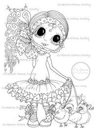 Small Picture INSTANT DOWNLOAD Digi Stamps Big Eye Big Head Dolls Digi Holly And