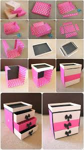 how to make a jewelry box out of cardboard easy the best photo