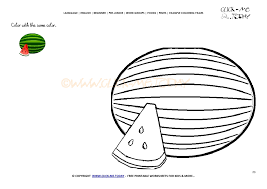 coloring page Watermelon - Color picture of Watermelon