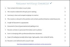 Interview Success Coach: Resume Writing Checklist