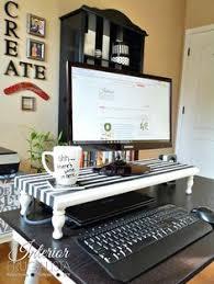 laptop office desk.  Laptop DIY Computer Monitor Stand Office ItemsOffice DesksComputer  In Laptop Desk