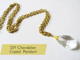 diy vintage chandelier crystal necklace