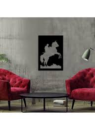 Elephant Design Studio Dubai Shop Pirudem Decorative Wall Accessory Black 50x70