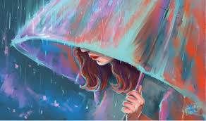 24x40inch vector girl umbrella rain home wall decor prints realistic oil painting printed on canvas art online with 26 22 piece on gdst1350 s store  on girl with umbrella wall art with 24x40inch vector girl umbrella rain home wall decor prints realistic