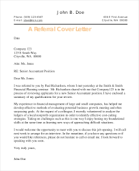 Cover Letter Referral 25 Cover Letter Templates Samples Doc Pdf Free