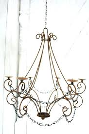 non electric hanging chandeliers altar ceiling pendant light features twenty five electric candles presented on a post