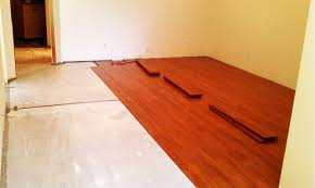 how to install bamboo flooring on concrete basement flooring designs bamboo flooring installation concrete slab gurus