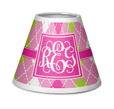 pink green argyle chandelier lamp shade personalized