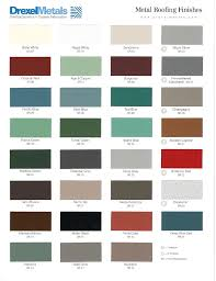Metal Sales Color Chart Drexel Color Chart Whaleyville Tull Lumber Sales
