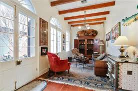 french formal living room. The Main Home Has A Formal Dining Room And Wide Living Room. Highlights Include Its Exposed Beams, Fanlight Transoms, Five Fireplaces, Gorgeous French U