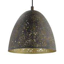 safi gold and brown pendant light