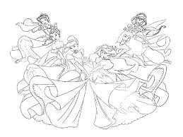 baby princess coloring pages disney princesses page free to print