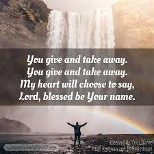 Bible Verses for Blessed Be Your Name
