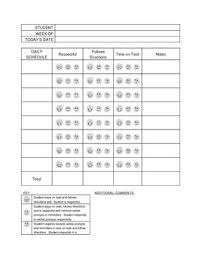Free Printable Behavior Chart 0 Behavior Classroom