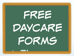Free Day Care Free Daycare Forms And Sample Documents Daycare Forms