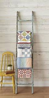 ... and primitive and shabby chic decor with a combined 65+ years of  experience. Today they are sharing with us some home decor tips using  vintage ladders.