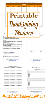 one week menu planner free printable thanksgiving planner 6 forms included