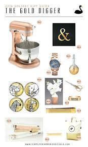 rose gold kitchenaid holiday gift guide shiny sparkly gold finds rose gold kitchenaid mixer
