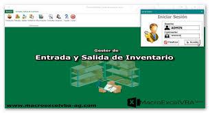 Inventario Excel Entrada Y Salida De Inventario En Excel Macroexcelvba