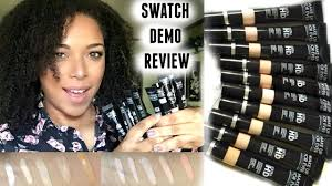 swatches demo review new makeup forever ultra hd concealers melissaq you