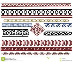 Viking Patterns Mesmerizing Set Of Viking Border Designs Stock Illustration Illustration Of