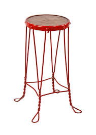 late 19th or early 20th century american antique four legged ice cream parlor twisted wire stool
