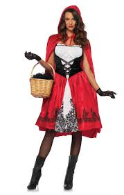 women s deluxe clic red riding hood costume main image
