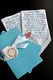 29 something blue personalized flower gift bride gift flower wedding gift wedding handkerchief