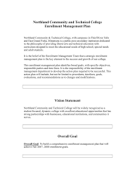 Northland Community and Technical College Enrollment Management Plan