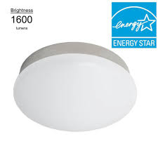 bright white brushed nickel integrated led flushmount ceiling light lampholder replacement