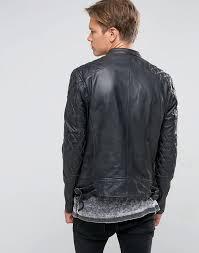 iness leather jackets jacket men black men s goosecraft goosecraft biker quilt shoulder